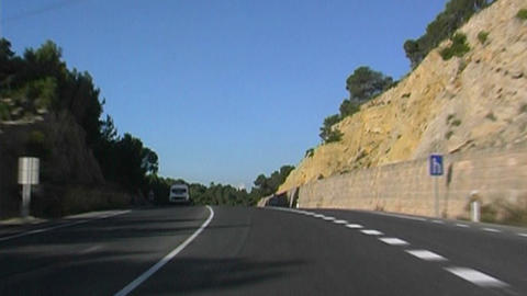 Mallorca Highway Stock Video Footage