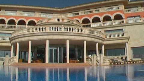 Seaside resort hotel Stock Video Footage