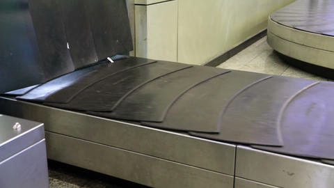 Baggage conveyor2 Stock Video Footage