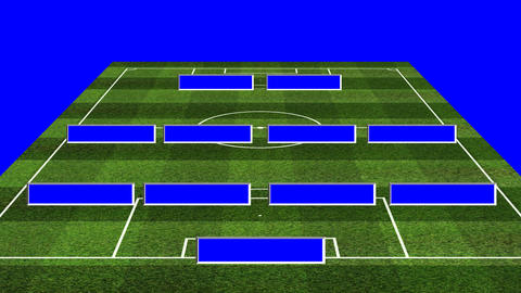 3D BS Football Lineup 442 Stock Video Footage