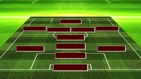 3D Football Lineup 4141 Stock Video Footage