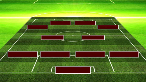 3D Soccer Lineup 424 Stock Video Footage