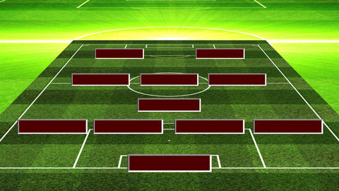 3D Soccer Lineup 4132 Stock Video Footage
