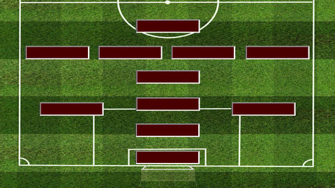 Football Lineup 4141 Animation
