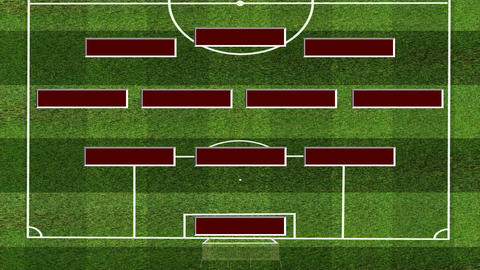 Soccer Lineup 343 Animation