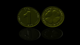 Lucky Clover Coins stock footage