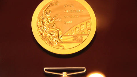 Olympic Medals Sydney 2000 Stock Video Footage