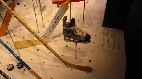 Olympic IceHockey Gear Canadian Jersey Stock Video Footage