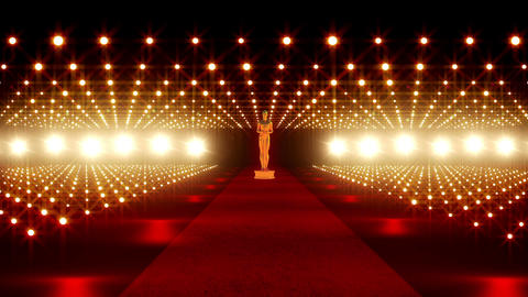On The Red Carpet 01 Award Stock Video Footage