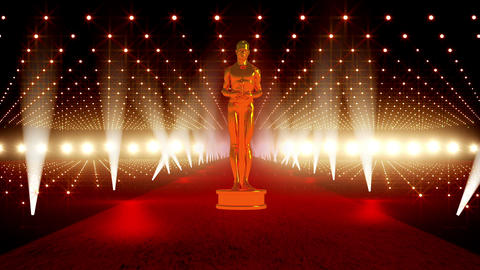 On The Red Carpet 03 Award Stock Video Footage
