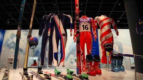 Salt Lake City Ski Gears Stock Video Footage