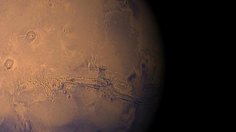 mars voyage Stock Video Footage