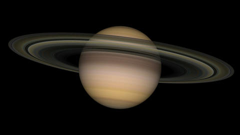 saturn loop Stock Video Footage