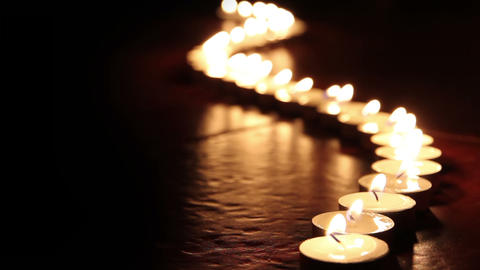 Candles line HD Stock Video Footage