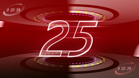 CountDown 120 A1d1 HD Stock Video Footage