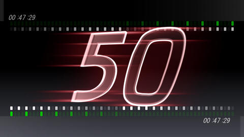 CountDown 120 B2b1 HD Stock Video Footage