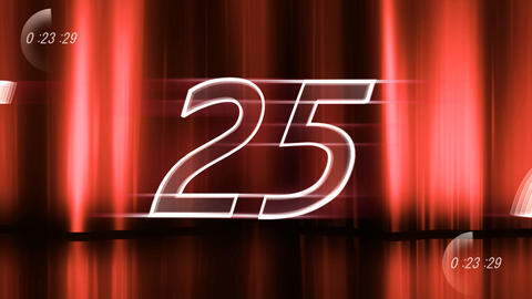CountDown 120 D2a1 HD Stock Video Footage