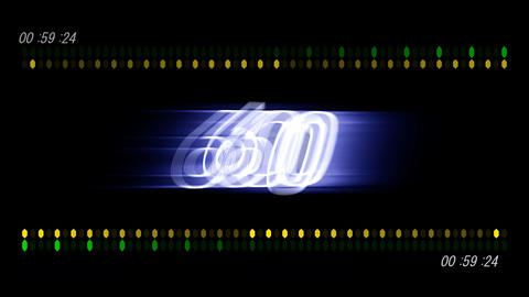 CountDown 120 D2b1 HD Stock Video Footage