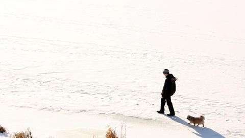 People on ice 2 Stock Video Footage