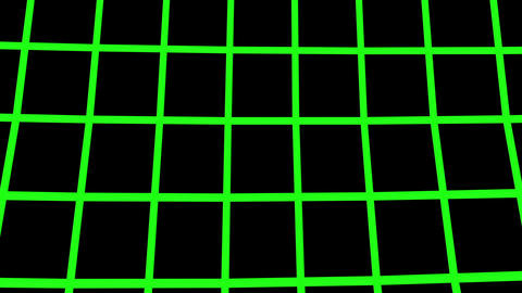 Green Wireframe Moving From Bottom To Top. (loop Ready File) stock footage