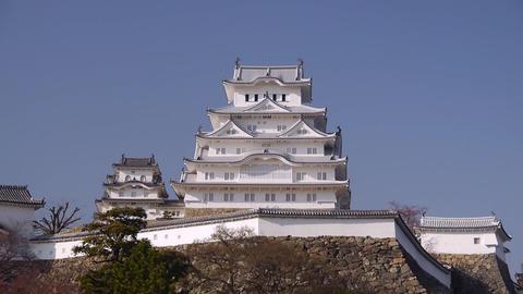 Himeji Temple 123 stock footage