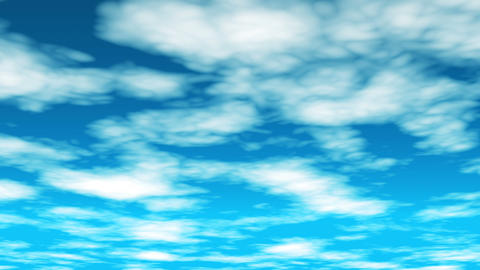 Broadcast Clouds Fly Through, Blue, Sky, HD Animation