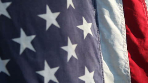 American Flag Closeup stock footage