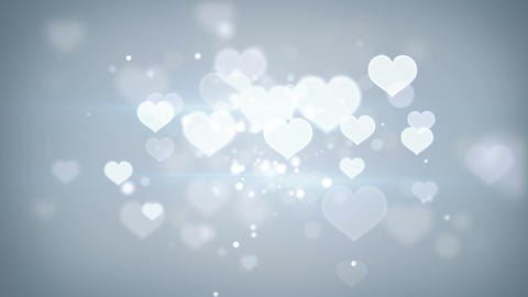 heart shapes bokeh loopable romantic background Footage