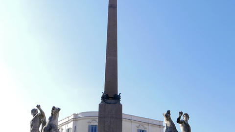 Obelisk in the Plaza del Quirinale. Rome, Italy Footage