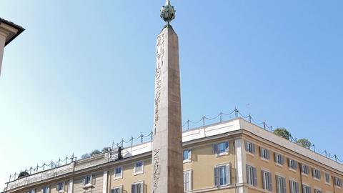Obelisk Of Montecitorio. Rome, Italy - February 18, 2015: Is An Ancient Egyptian stock footage