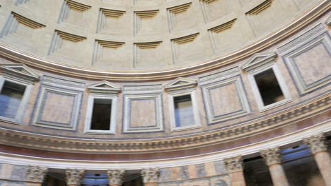 Pantheon, the interior. Rome, Italy. 1280x720 Footage