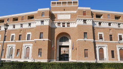 Tribunale Di Sorveglianza. (supervisory Review Court) Rome, Italy. 1280x720 stock footage