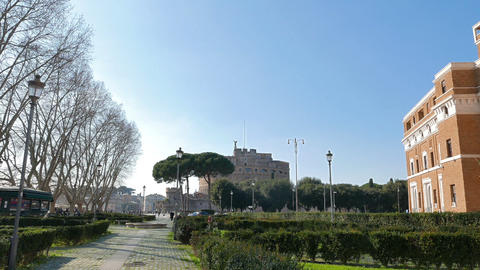 Castle of San Angelo. Rome, ItalyCastle San Angelo. Rome, Italy. 1280x720 Live Action