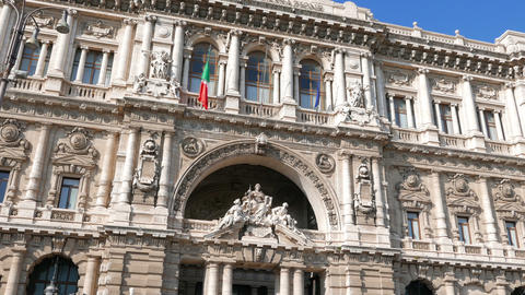 Supreme Court of Cassation, Palace of Justice. Rome, Italy Footage