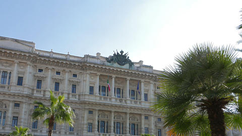 Palace of Justice. Rome, Italy - February 18, 2015: the seat of the Supreme Cour Live Action