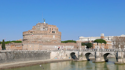 Castle of San Angelo, Rome, Italy. 4K Footage