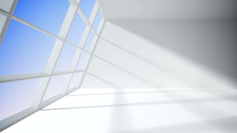White room with window Animation