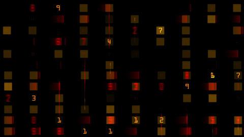 4k numbers & words scrolling across the screen,finance digital tech data bac Footage