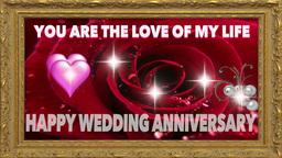 WEDDING ANNIVERSARY DIGITAL CARD Footage