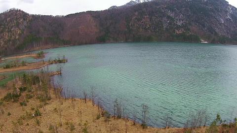 Beautiful Lake In The Mountais stock footage