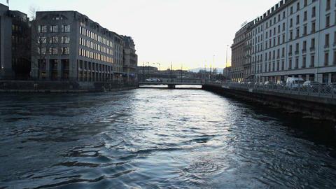 Geneva evening in slowmotion Footage