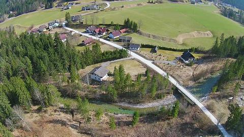 Aerial View Alps, Austria stock footage