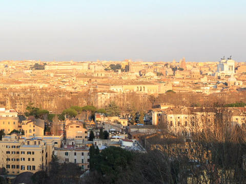 Center of Rome at sunset. Rome, Italy. 640x480 Live Action