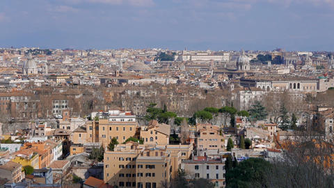 Panorama of Rome. View from Gianikolo. Rome, Italy. 1280x720 Live Action