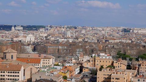 Panorama of Rome. Passeggiata del Gianikolo. Rome, Italy Live Action