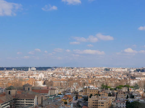 Panorama of Rome. View from Gianikolo. Rome, Italy. 640x480 Live Action