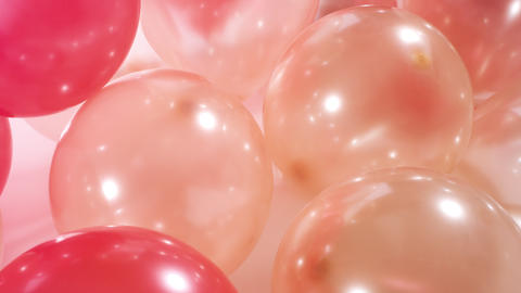 4k Birthday party colorful many balloons Footage