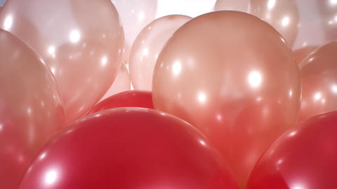 4k colorful party balloons Footage
