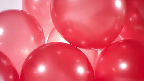 Red party balloons Footage