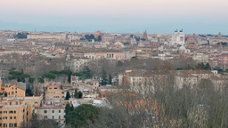 Rome after sunset. Italy Live Action